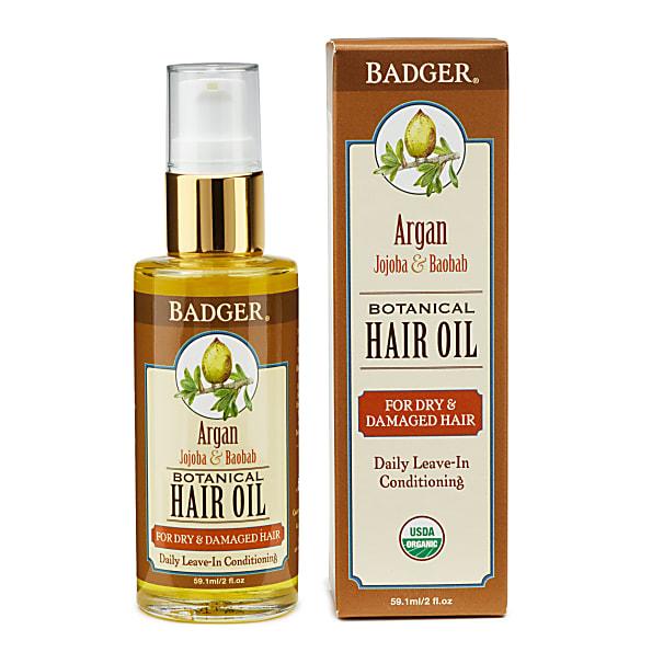 Badger Argan Hair Oil - droog en beschadigd haar