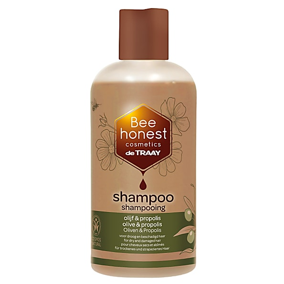 De Traay Shampoo Olijf & Propolis 250ML droog