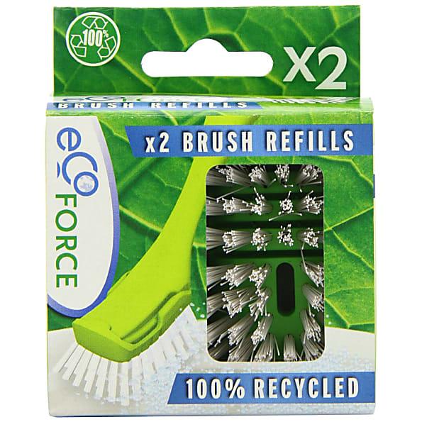Ecoforce Afwasborstelkop Recycled 2stuks