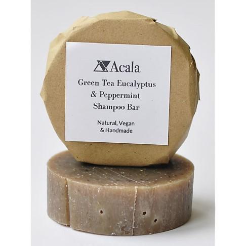Acala Shampoo Bar van Groene Thee, Pepermunt en Eucalyptus