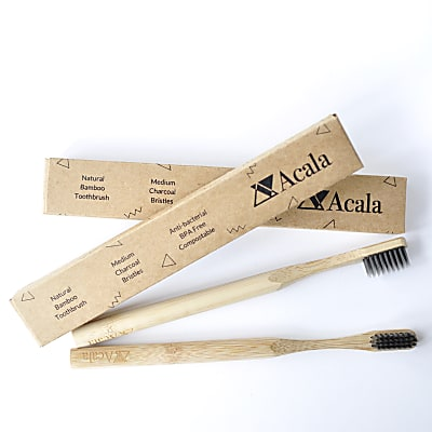 Acala Bamboe Tandenborstel met Haartjes van Houtskool