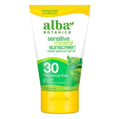 Alba Botanica Emollient Mineral Fragrance Free SPF30