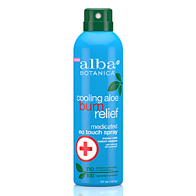 Alba Botanica Cooling Aloe Burn Relief Medicated Spray