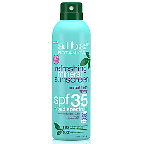 Alba Botanica Refreshing Mineral Sunscreen Spray SPF35