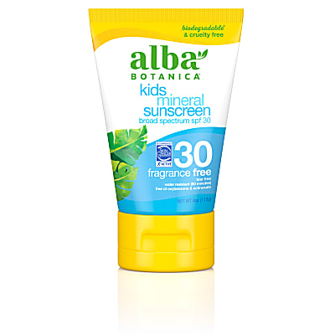 Alba Botanica Kids Mineral Sunscreen SPF30 - Fragrance Free