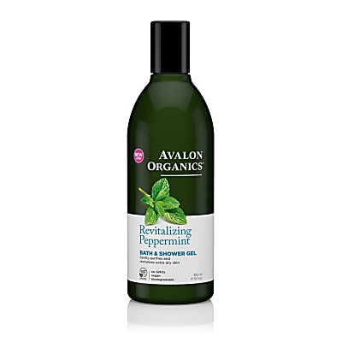 Avalon Organics Bad en Douchegel - Pepermunt (stimulerend)