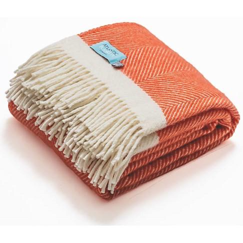 Atlantic Blankets 100% Wollen Deken - Koraal (130cm x 200cm)