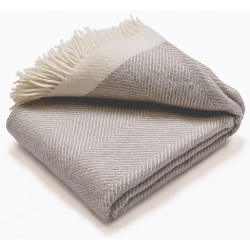 Atlantic Blankets 100% Wollen Deken - Grijs (130 x 150cm)