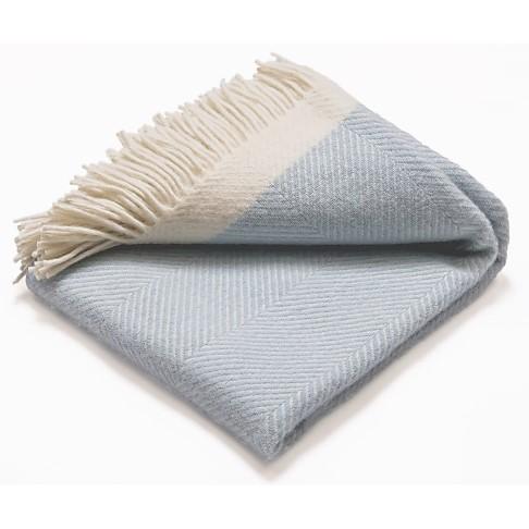 Atlantic Blankets 100% Wollen Deken - Licht Blauw (130 x 150cm)