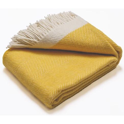 Atlantic Blankets 100% Wollen Deken - Geel (130 x 150cm)