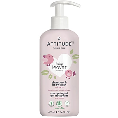 Attitude Baby Leaves 2 in 1 Shampoo & Douchegel - Parfumvrij