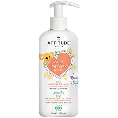 Attitude Baby Leaves 2 in 1 Shampoo & Douchegel - Peer Nectar