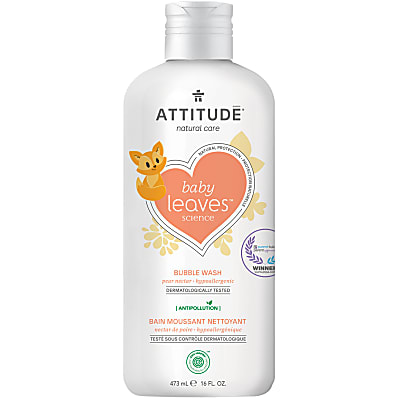 Attitude Baby Leaves Bubble Wash - Peer Nectar