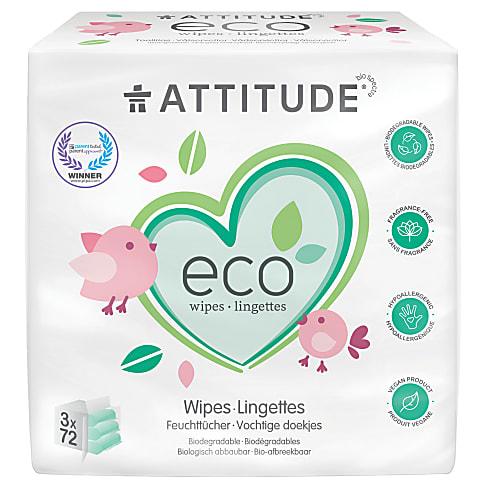 Attitude Eco Baby Wipes (3 x 72)