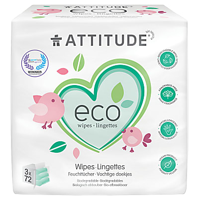 Attitude Eco Baby Wipes (3 x 72)