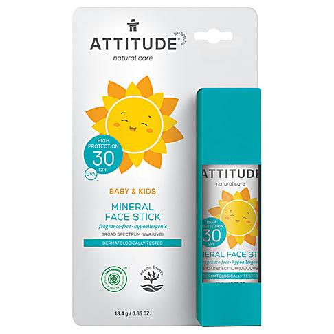 Attitude Baby & Kids 100% Mineral Face Stick SPF 30 - Parfumvrij