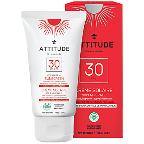 Attitude Minerale Zonnebrandcrème SPF 30 - Zonder parfum
