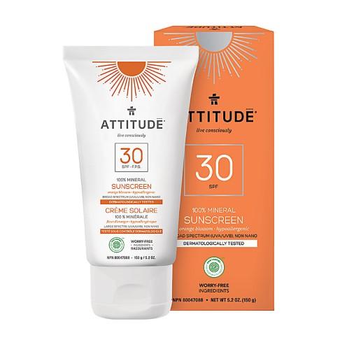 Attitude Minerale Zonnebrandcrème SPF 30 - Oranjebloesem
