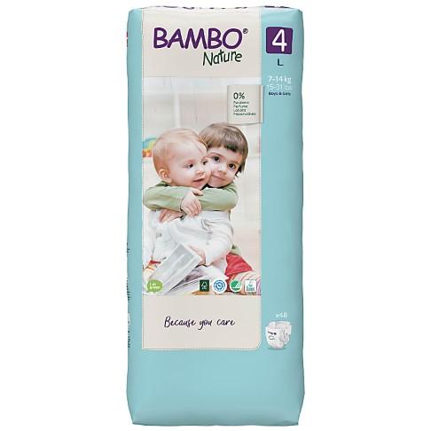 Bambo Nature Luiers - Maxi - maat 4 (60 stuks)