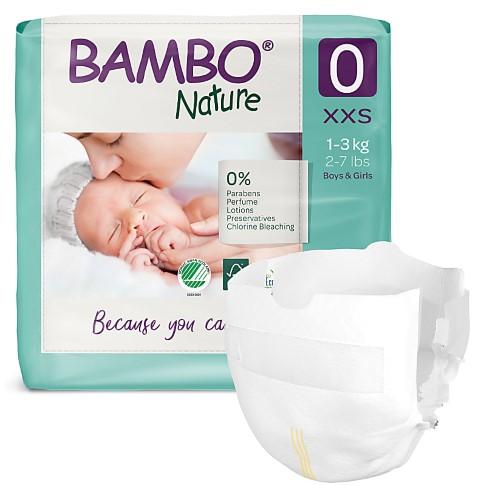 Bambo Nature Luiers - Prematuur - maat 0 (24 stuks)