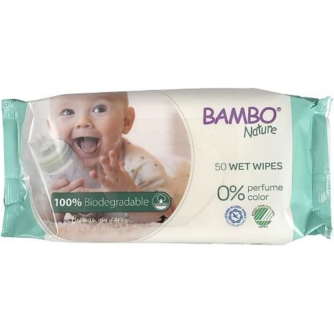Bambo Nature 100% Biologisch Afbreekbare Doekjes (x50)