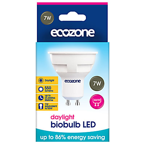 Ecozone LED GU10 Daglicht Lamp 7 watts (equil. 50 watt)