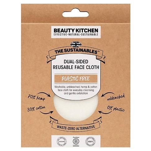 Beauty Kitchen Tweezijdig Herbruikbaar Gezichtsdoek