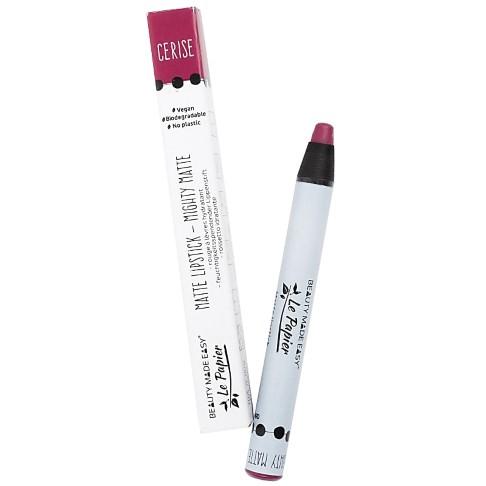 Beauty Made Easy Le Papier Matte Lipstick - Cerise (plasticvrij)