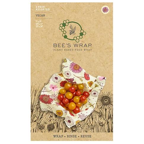 Bee's Wrap 3-pack Assorted Meadow Magic VEGAN