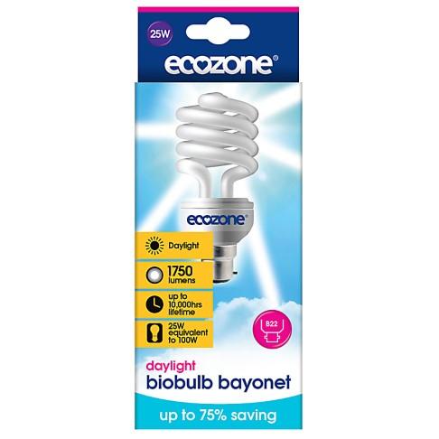 Ecozone Bio Spaarlamp Daglicht 25w (Bayonet fitting)