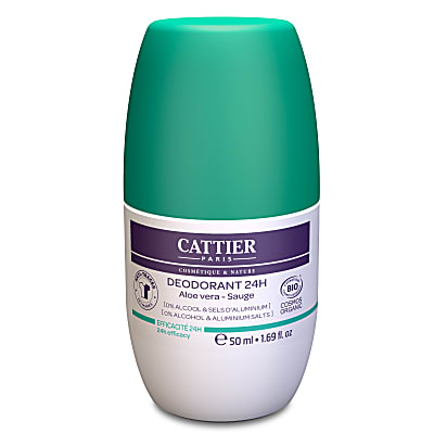 Cattier-Paris Deodorant Roll-on 24h Aloe Vera & Salie