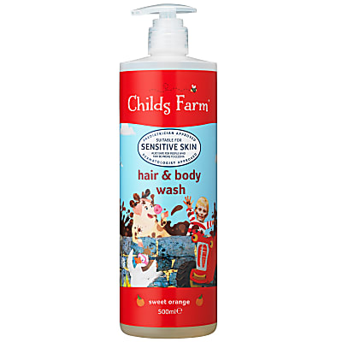 Childs Farm Zoete Sinaasappel Hair & Body Wash - 500ml