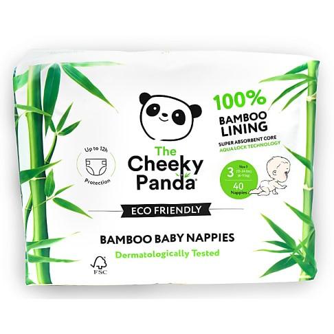 Cheeky Panda Bamboe Baby Luiers Maat 3 (6-11 kg)