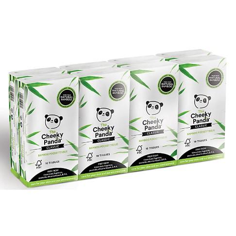 The Cheeky Panda Bamboo Zakdoeken (10x 8 stuks)