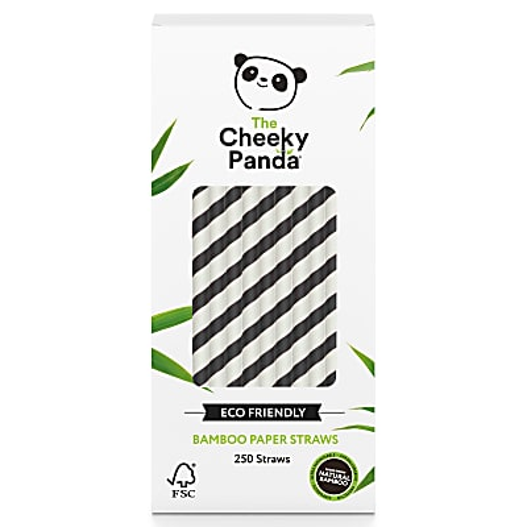 The Cheeky Panda Bamboe Rietjes - Zwart & Wit