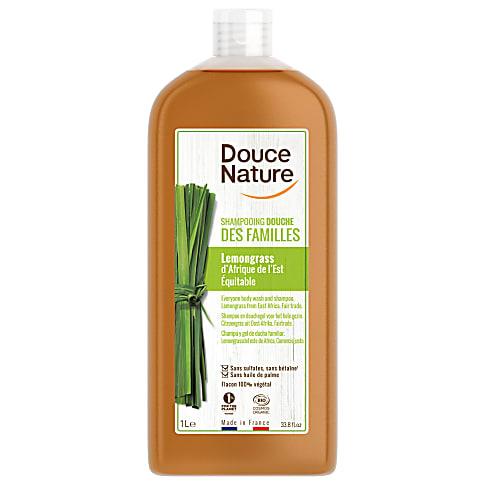 Douce Nature Shampoo & Douchegel Citroengras 1L