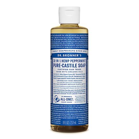 Dr. Bronner's Peppermint Castile Vloeibare Zeep - 237ml