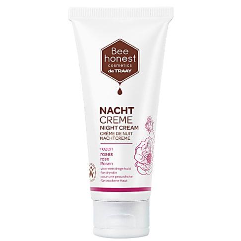 De Traay Bee Honest Nachtcrème Rozen (droge huid)
