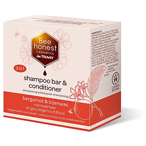 De Traay Bee Honest Shampoo & Conditioner Bar Bergamot & Bijenwas