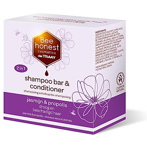 De Traay Bee Honest Shampoo & Conditioner Bar Jasmijn & Propolis