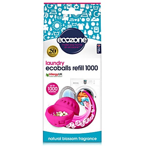 Ecozone Ecoballs Navullingen 1.000 wasbeurten - Natural Blossom