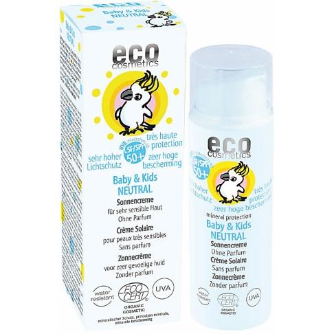 Eco Cosmetics Baby & Kind Zonnebrandcrème SPF50 Neutraal