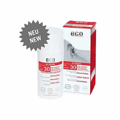 Eco Cosmetics Zonnebrandcrème No Biocide SPF30 (anti-muggen)
