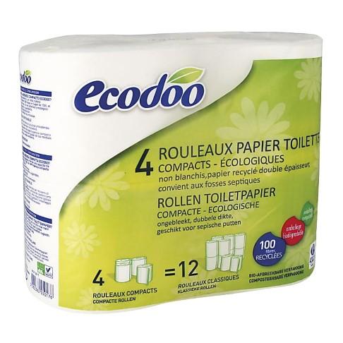 Ecodoo Compact Toiletpapier (4 rollen)