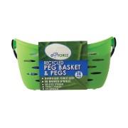 EcoForce Gerecycleerde Wasknijpers (24 gratis stuks) met mandje
