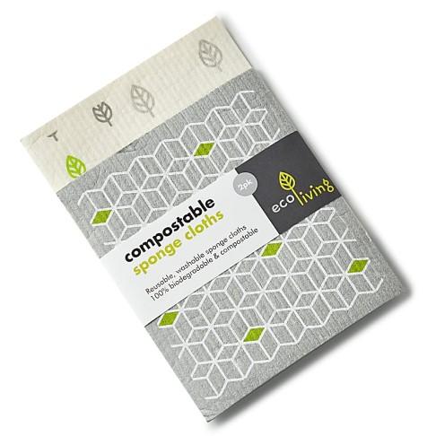 Eco Living Composteerbare Schoonmaakdoeken (x2)