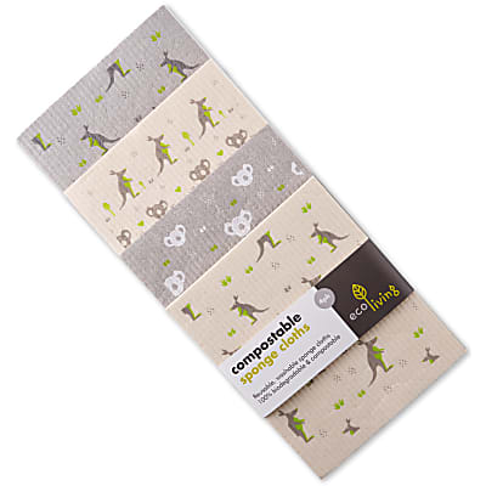 Eco Living Composteerbare Schoonmaakdoeken (x4) - Wildlife Rescue