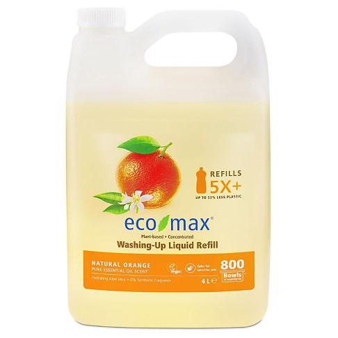 Eco-Max Vloeibaar Afwasmiddel - Natuurlijke Sinaasappel 4L