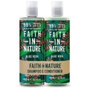 Faith in Nature Aloe Vera 2 in 1 Pack - Shampoo & Conditioner