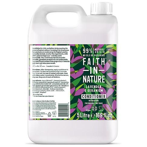 Faith in Nature Lavendel & Geranium Conditioner - 5L